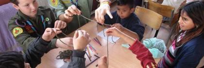 ПСИО со децата во центарот за дневен престој во Шуто Оризари